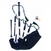 Rosewood Highland Full Size Bagpipe Set ( Black Color )